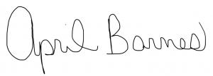 April Barnes' signature